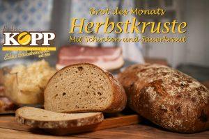 Brot des Monats Oktober: Die Herbstkruste mit Sauerkraut und Schinken