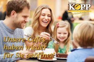 Unsere Cafés haben wieder für Sie geöffnet!